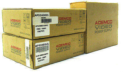 3x New Ademco AP52408UL Power Supply Units | Security Equipment | 100-240 V