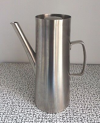60s Vintage Retro Old Hall Avon Coffee Pot Stainless Steel Robert Welch MCM