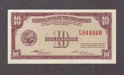 1949 10 Centavos Philippines Currency Aunc Banknote Note Money Bank Bill Cash Au