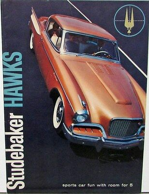 1957 Studebaker Golden & Silver Hawks Color Original Sales Brochure