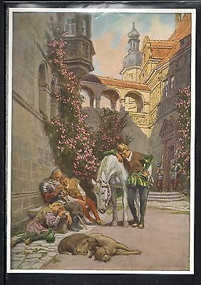 Early  Sleeping Beauty Fairy Tale  Bilder Card, Brothers Grimm Classic