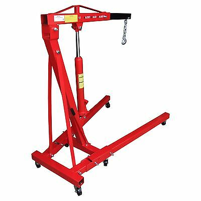 1 Ton Tonne Hydraulic Crane Rocwood Professional Folding Engine Stand Hoist Lift