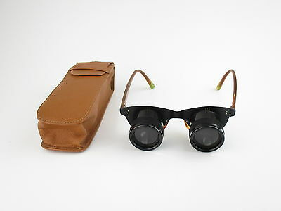ROW Rathenow Galistar Lupenbrille magnifying spectacles + Tasche case