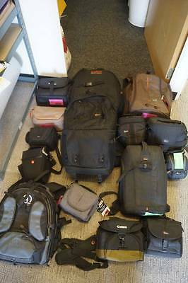 Generic 15 different lowepro Manfrotto tamrac camera lens bags for sale