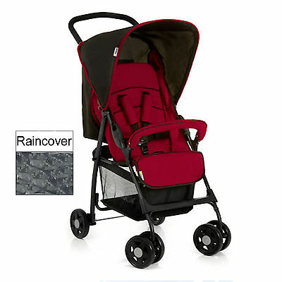 Hauck Tango / Caviar Sport Pushchair Stroller From Birth With Raincover