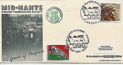 """1993 """"Called for at ARLESFORD Station"""" Cover from Trains/Railway Collection"""