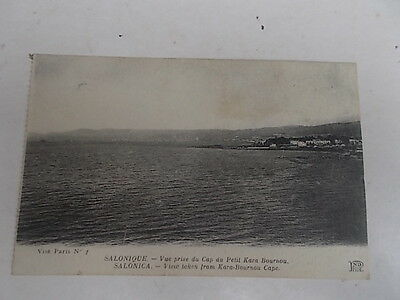 Thessaloniki Salonica Greece View From Kara Bournou Cape Printed Postcard C1912