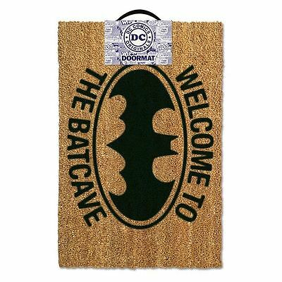 Batman Welcome To The Batcave Front Door Mat Official DC Comics Rubber Backed