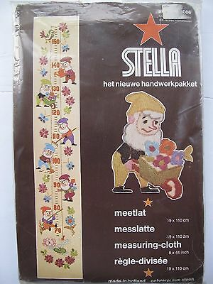 CHARMING MEASURING CLOTH DESIGN in WOOL EMBROIDERY by STELLA Design 1086