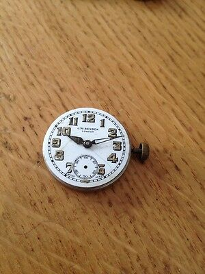ANTIQUE SWISS MADE WW1 WATCH OFFICER'S / TRENCH Watch Movement  By J.w.Benson