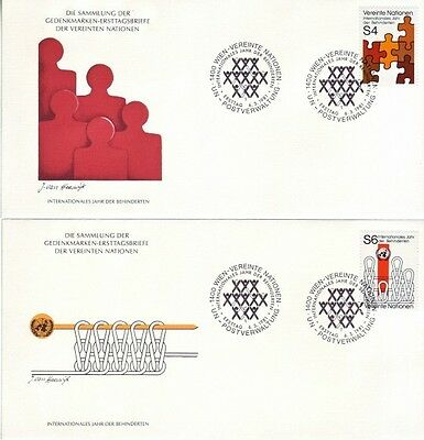 U.N. (Vienna) - Various Issues of 1981 (6no. Vienna FDC's) 1981