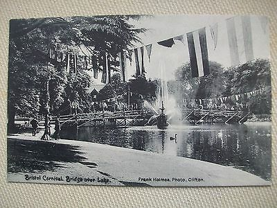 BRISTOL CARNIVAL BRIDGE & LAKE - FRANK HOLMES PHOTO (Clifton) POSTCARD