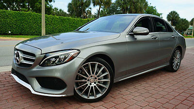 "2015 Mercedes-Benz C-Class C300 4MATIC AMG SPORT 19"" AMG WHEELS PANO NAV WOW! $54,370 MSRP LOADED LED HEADLIGHTS PREMIUM 1 PKG HEADS UP LIKE NEW LOW RESERVE!!"