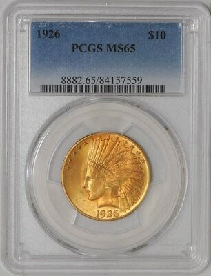 1926 $10 Gold Indian MS65 PCGS