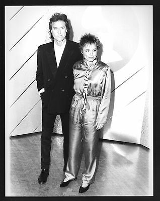 1985 Original Photo RAY DAVIES & LAURIE ANDERSON of THE KINKS gp