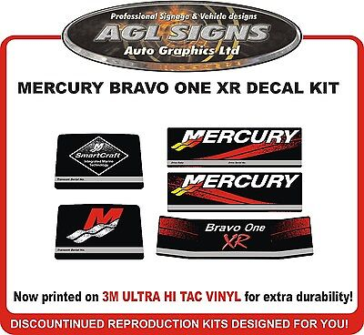 Mercury Bravo One XR Racing Outdrive Decal Kit   Mercruiser  reproductions