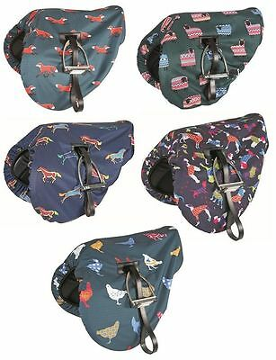 Shires Ride On Waterproof Saddle Cover Assorted Designs (233)