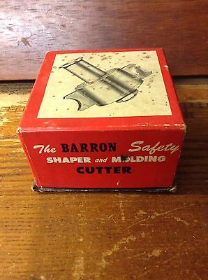 Barron Tool Safety Shaper and Molding Cutter  Original Box Woodworking carpentry
