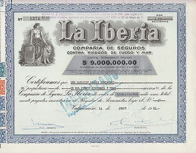 Stock Certificate - La Iberia - Lot 577