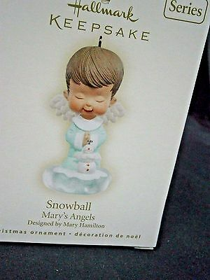 """Hallmark Mary's Angels """"snowball"""" Ornament 20Th In Series"""