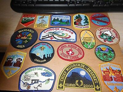 (Ys5-Bev) Sixteen Different Listed  Alberta  Scout Badges  Unused