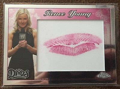 WWE Topps Chrome 2015 Renee Young Divas Kiss Card