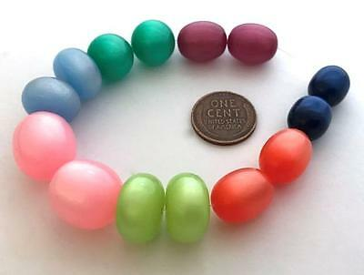 Vintage Lucite Moonglow Beads Mix 14