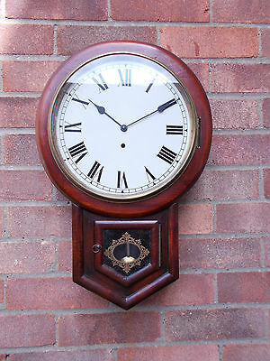Vintage American Drop Dial Wall Clock With Jewelled Hermle Movement