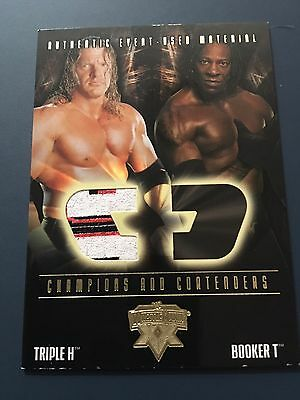 WWE Fleer 2004 Triple H Vs Booker T, Triple H 3 Colour Relic Card