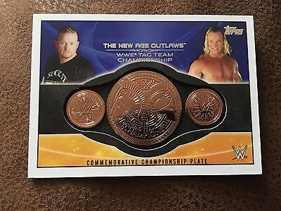 WWE Topps 2015 New Age Outlaws Commemorative Tag Team Title Plate Card
