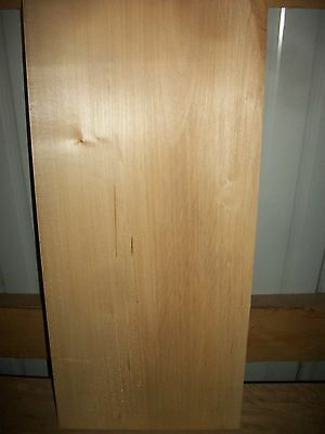 """1 Pc Basswood Lumber Wood Air Dried Board 1 9/16"""" Thick Lot 489N  Block Blank"""