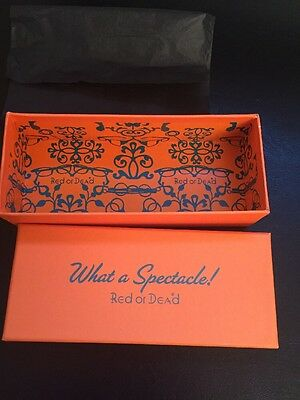 Red Or Dead Orange Glasses Box Case - What A Spectacle!
