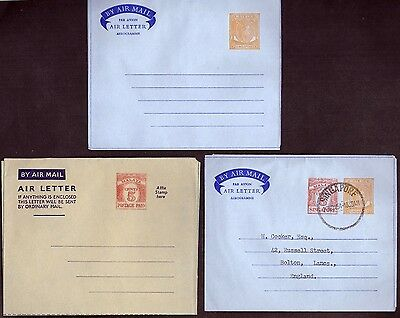 KGVI: Singapore Air Mail letters - Unused and used examples - Very Fine.