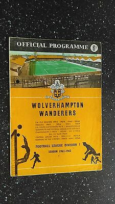 Wolverhampton Wanderers V International Xi 1961-62