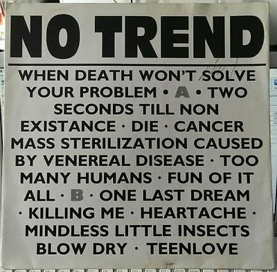 When Death Won't Solve Your Problem (UK 1985) : No Trend