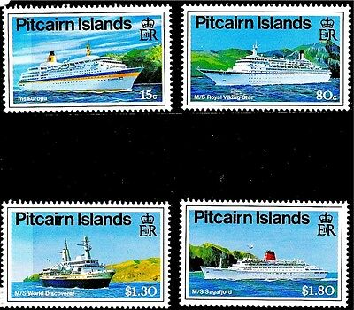 Pitcairn 1991 Cruise Liners MNH (4)