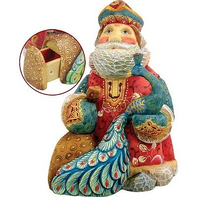 Islander Peacock Santa Box G. Debrekht Christmas Figurine LTD Edition