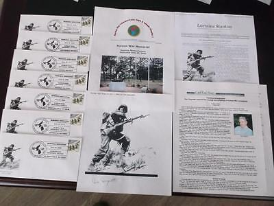 Usa 2000 Korean War Fdc And Frontline Photographer Don Duquette Signed       Rs