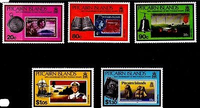 Pitcairn 1990 50th Anniversary of Pitcairn Stamps  MNH(5)