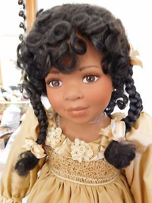 """RAE"" African American 23"" doll by MARIE OSMOND/KAREN SCOTT In Original Box"