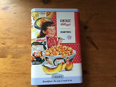 NEW - Gibsons - 250 Piece Jigsaw - VINTAGE KELLOGGS (In A Tin)