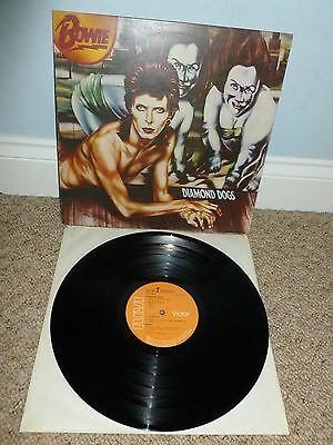 DAVID BOWIE Diamond Dogs LP 1974 1st UK Press STEREO RCA VICTOR APL1 0576 MINT