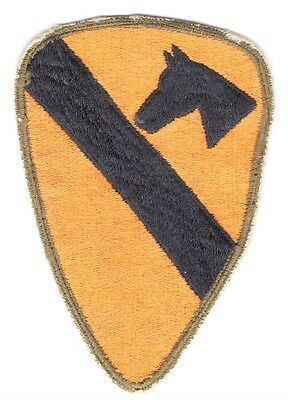 Army Patch:  1st Cavalry Division - WWII era OD border