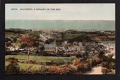 Holywell and Estuary of the Dee- colour printed postcard