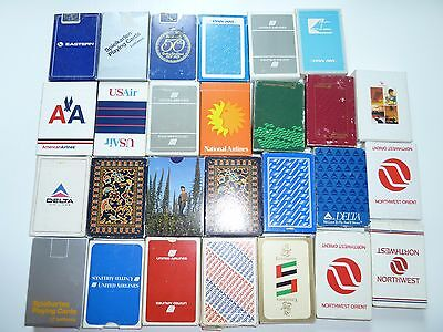 1x Pan Am Lufthansa Delta Airlines Northwest Emirates Spielkarten Playing Cards