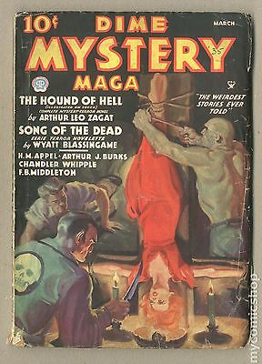 Dime Mystery Magazine (1932) pulp #Volume 7, Issue 4 GD 2.0