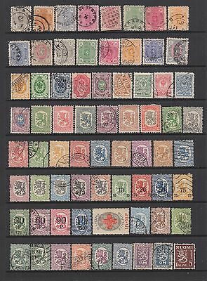 Finland 1875 - 1935 collection , 97 stamps.