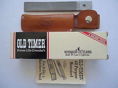 Original Usa Made Schrade Old Timer Hs-1 Hone Steel