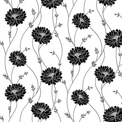 3 sheets of Dolls House Wallpaper 1/12th scale Black White Quality Paper #161