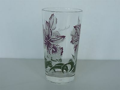 Excellent Peanut Butter glass ORCHID Boscal midcentury tumbler 5 inch PurPle